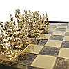 Шахматы «Римляни», коричневые, Manopoulos, 40х40 см (088-1104SK), фото 3