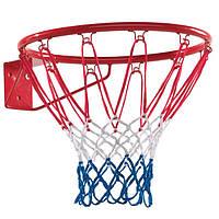 Кольцо баскетбольное Just Fun 45 см с сеткой (3PR12-01A1 00)