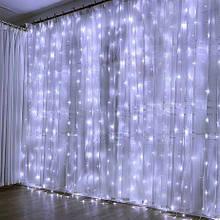Гирлянда штора-водопад 240 LED 3*2 белый