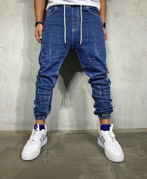 Мужские качественные джинсы на манжете, Турция