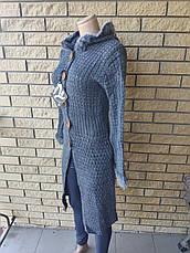 Кардиган женский вязаный,на пуговицах, с капюшоном LASTING, Турция, фото 2