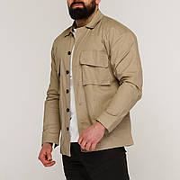 Куртка-рубашка бежевая мужская Фьюри (Fury) от бренда ТУР