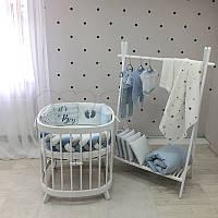 """Комплект в кроватку из серии ART Design """"It's a Boy"""" бело-голубого цвета, фото 1"""