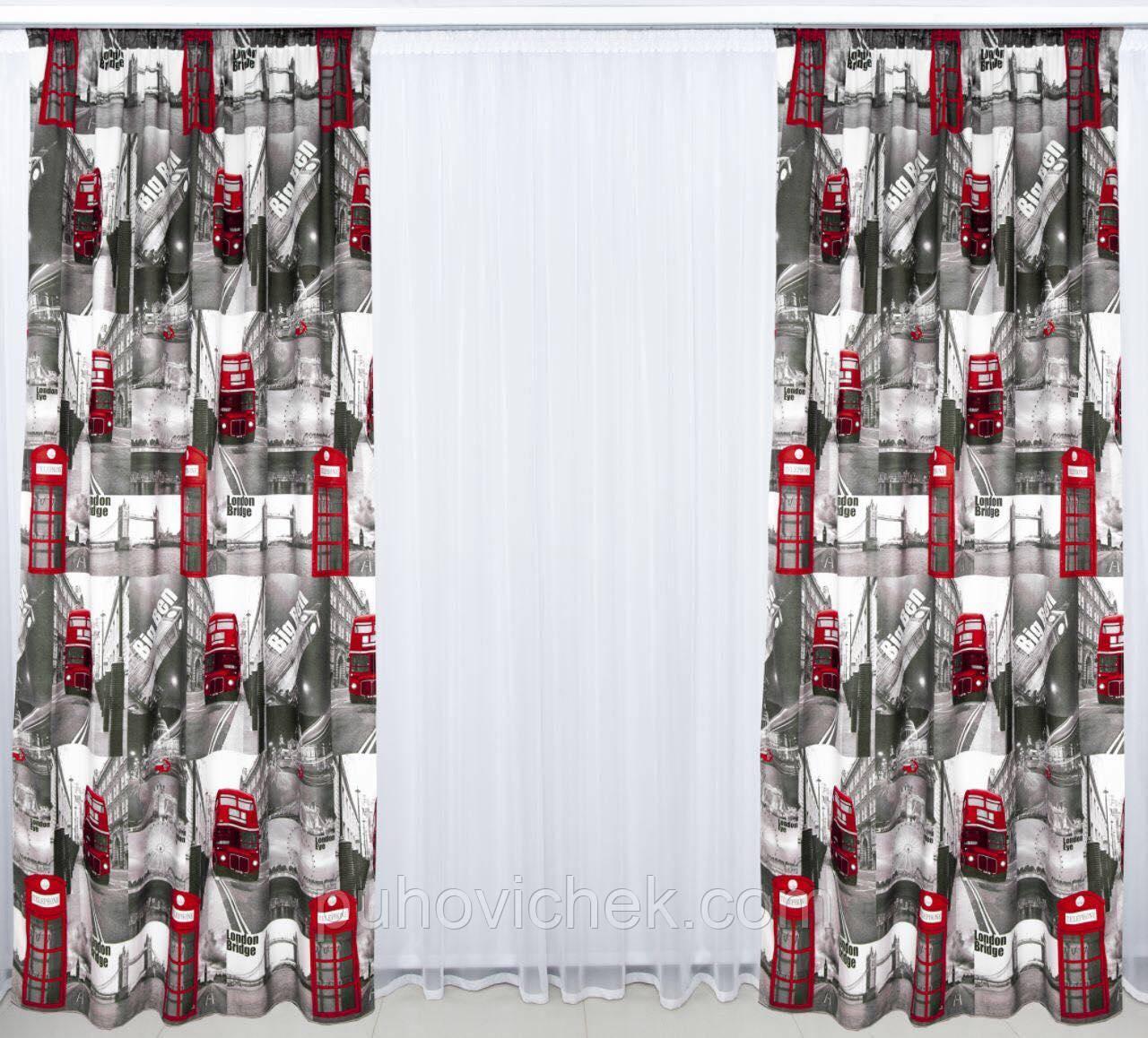 Готовые шторы плотные фото город