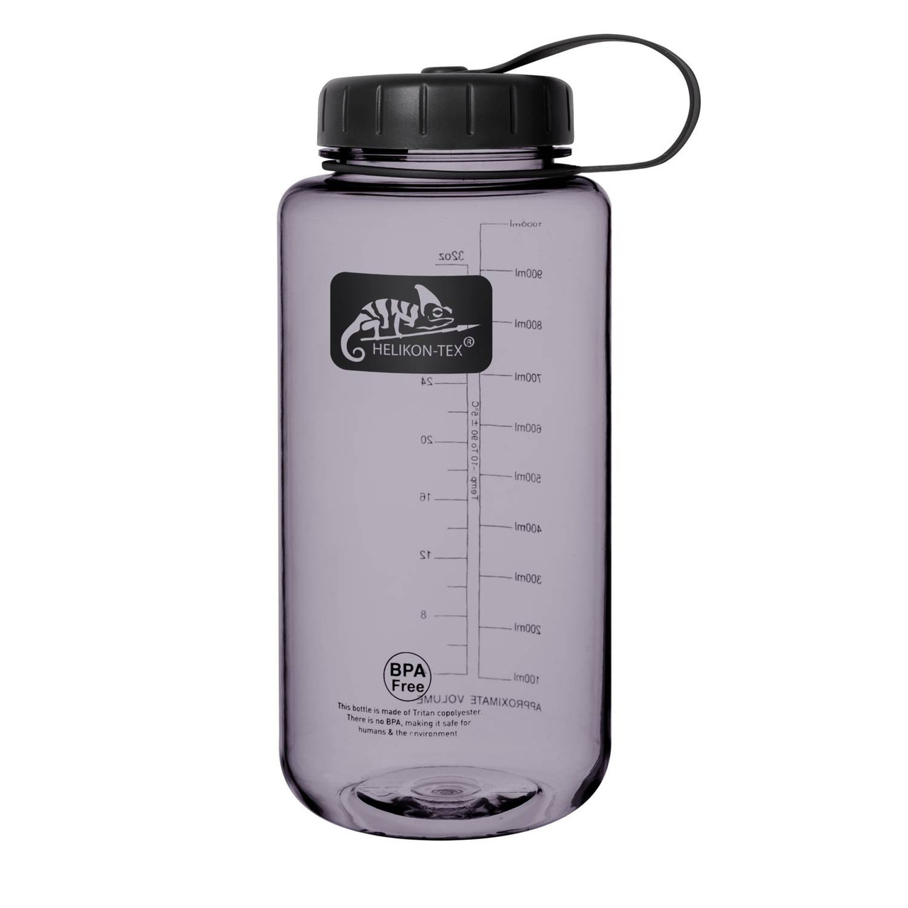 Пляшка фляга Helikon-Tex® TRITAN™ BOTTLE Wide Mouth (1 Liter) - Smoked