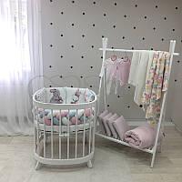"""Комплект в ліжечко з серії ART Design """"Rabbit"""" м'ятно-рожевого кольору"""