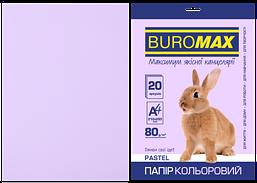 Бумага цветная Buromax Pastel 80г/м2 20 листов лавандовая