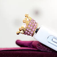 Розовая Корона на телефон Кристалл