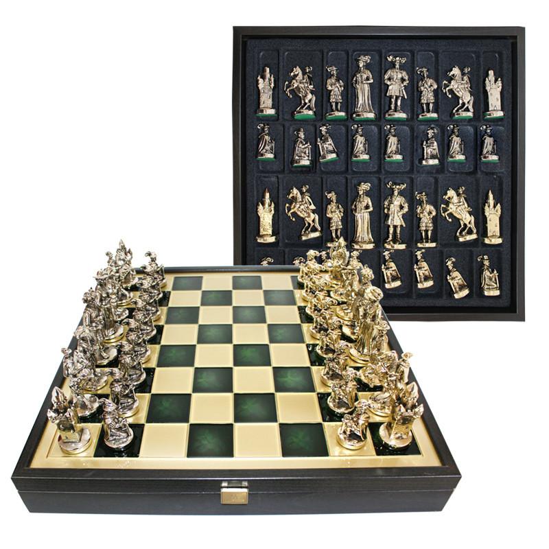 Шахматы «Мушкетеры», зеленые, Manopoulos, 40х40 см (088-1206SK)