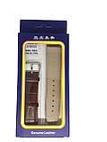 Ремешок  для часов JN 22мм коричневый опт, фото 2