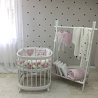 """Комплект в ліжечко з серії ART Design """"it's а Girl"""" біло-рожевого кольору"""
