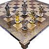 Шахматы «Посейдон», коричневые, Греция,MANOPOULOS 54х54 см (088-1902S), фото 2