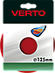 Липучка з клейовим покриттям, 125 мм, 61H702, Verto, фото 2