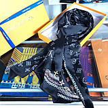 Палантин, шарф Луи Витон шелковый, реплика, фото 2
