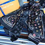 Палантин, шарф Луи Витон шелковый, реплика, фото 5