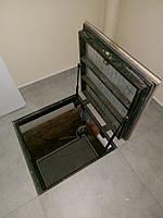 Люк в погреб герметичный 700х700 под ламинат в пол, подвал, погреб на газовых амортизаторах, фото 1