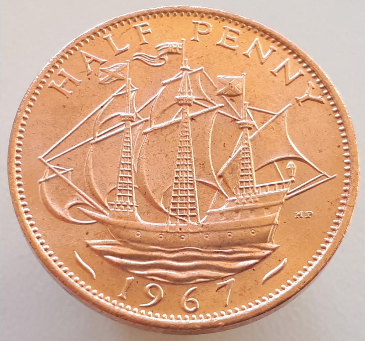 Великобританія ½ пенні 1967