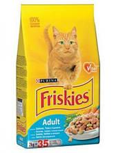 Корм Friskies Фрискис Cat для дорослих котів лосось/тунець/овочі на вагу 1 кг