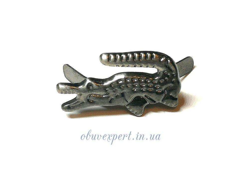 Декор невеликий Крокодил 20 * 10 мм Чорний нікель