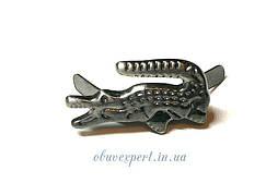 Декор мелкий Крокодил 20*10 мм Черный никель