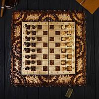 Дерев'яні шахи і нарди ручної роботи, ексклюзивні різьба по дереву, фото 1