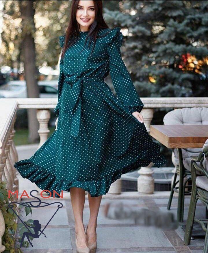 Платье в горошек   размер 42-44,46-48