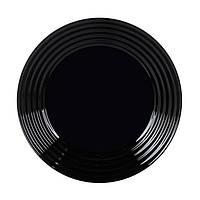 Тарелка десертная черная 190 мм Harena Luminarc L7613