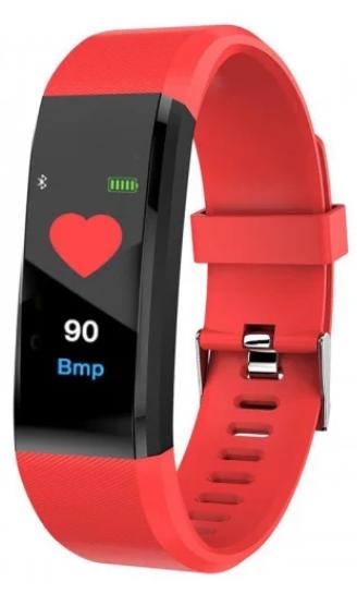 Фитнес браслет Smart band ID115 Red Гарантия 1 месяц