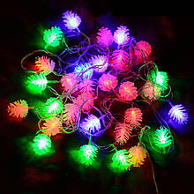 Гирлянда Шишки 20 LED лампочек 4м Мульти