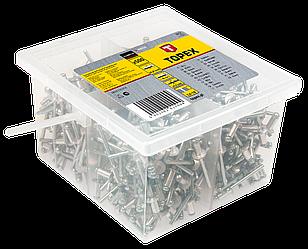 Заклепки алюмінієві 4.8 мм x 10 мм, 500 шт., 43E521, Topex