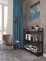 Стеллаж в гостиную Лонг 3 полки Квадро стиль Лофт Металл-Дизайн 1100х1100х270