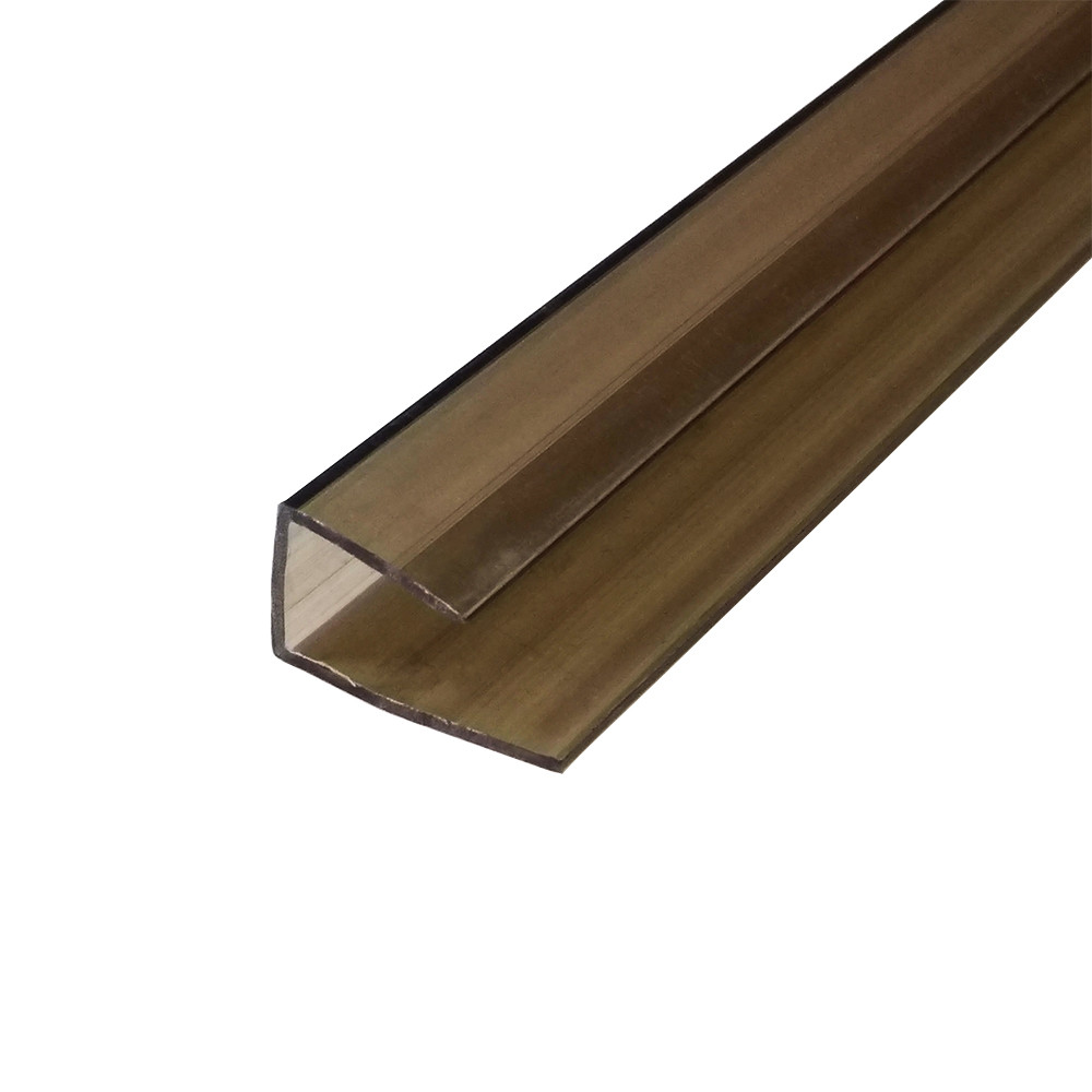 Профиль поликарбонатный бронза 6 мм торц., 2,1 м