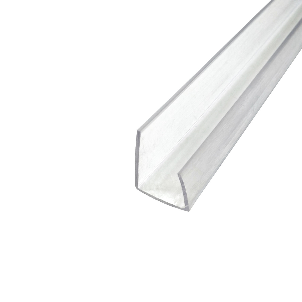 Профіль торцевий, прозорий, 2.1 м, для листів полікарбонату 16 мм