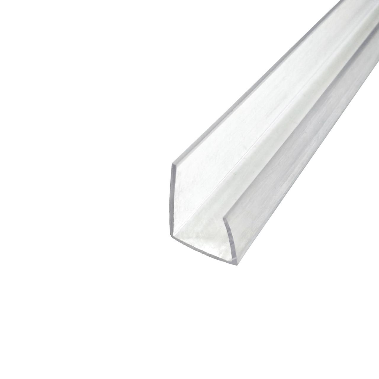 Профиль торцевой, прозрачный, 2.1 м, для листов поликарбоната 4 мм