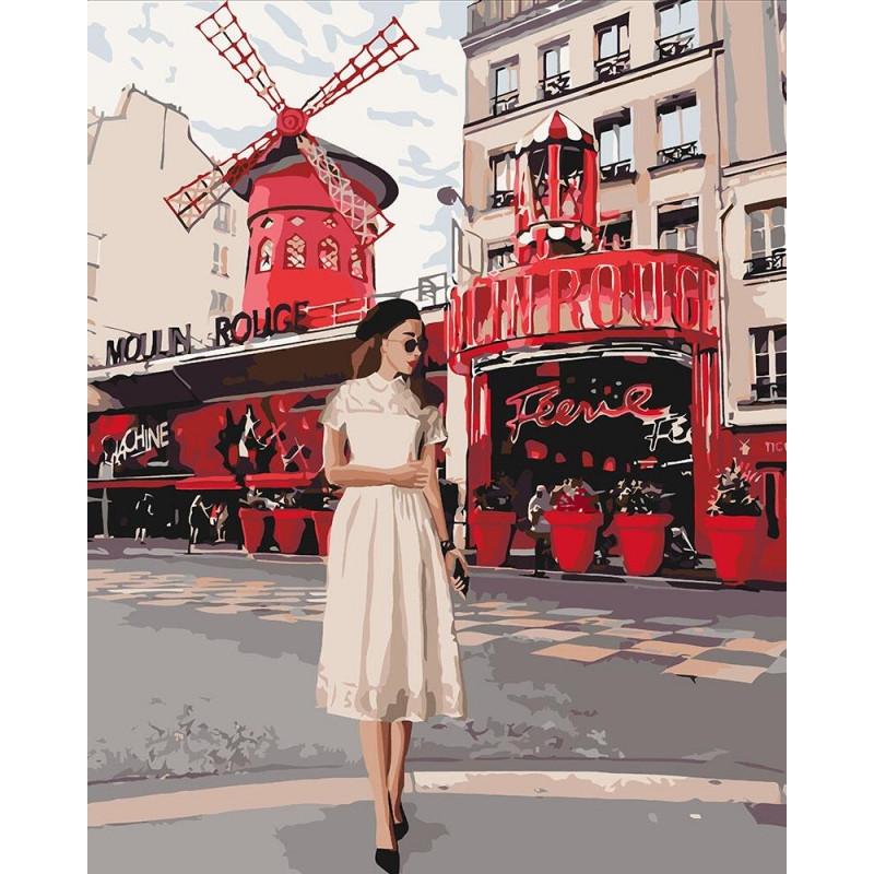 Картина по номерам Moulin Rouge 40*50 КНО4657 Идейка