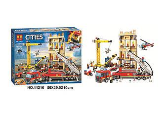Конструктор Bela city 11216 сити Центральная Пожарная Станция 985 деталей