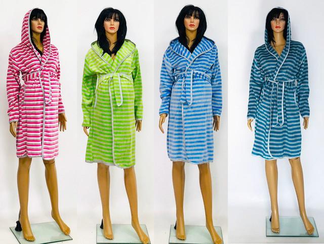 картинка велюровый халат для беременных под пояс разных цветов