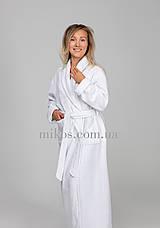 Женский халат L, махровый,белый,100% хлопок, фото 2