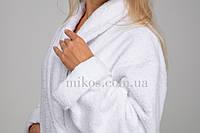 Женский халат L, махровый,белый,100% хлопок