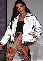 Женская зимняя теплая светоотражающая куртка Очень эффектная