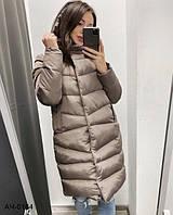 Женская зимняя теплая куртка с капюшоном Разные цвета, фото 1