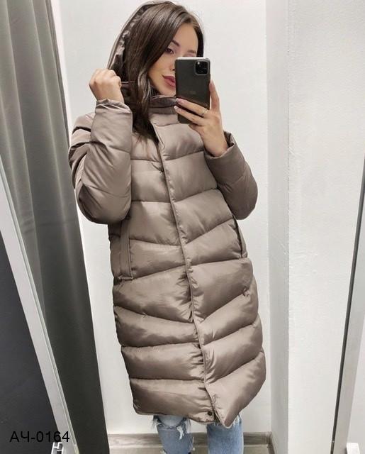 Женская зимняя теплая куртка с капюшоном Разные цвета