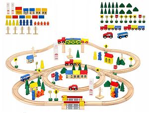 Дитяча дерев'яна залізниця, колія 100ел.