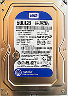 "Жесткий диск для компьютера Western Digital 500GB 3.5"" 16MB 7200rpm 6Gb/s (WD5000AAKX) SATA-III Б/У, фото 1"