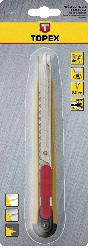 Ніж з лезом, що відламується, 9 мм, 17B109, Topex