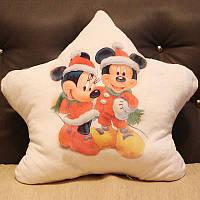 "Светящаяся подушка "" Мики и Минни маус - Новый год!"" звезда Mickey and Minnie mouse"