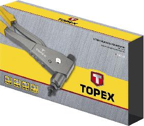Заклепочник для установки резьбовых заклепок M3, M4, M5, M6, 43E110, Topex