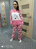 Женская пижама с мишкой, флиссовая Турция супер качество, женское белье хлопок , интернет магазин одежды