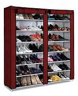 Двойной складной тканевый шкаф для обуви T-2712C