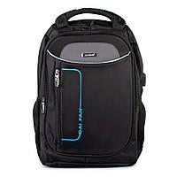 Рюкзак для города и путешествий с USB-выходом Daifan DF-21323 черный